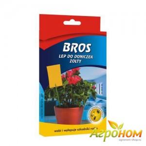 Bros - Липкие листы от насекомых для горшков 10 шт.